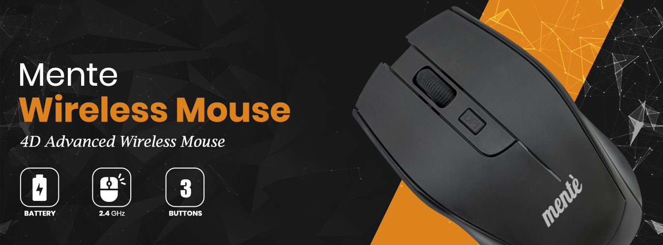 Mente Wireless Mouse Banner